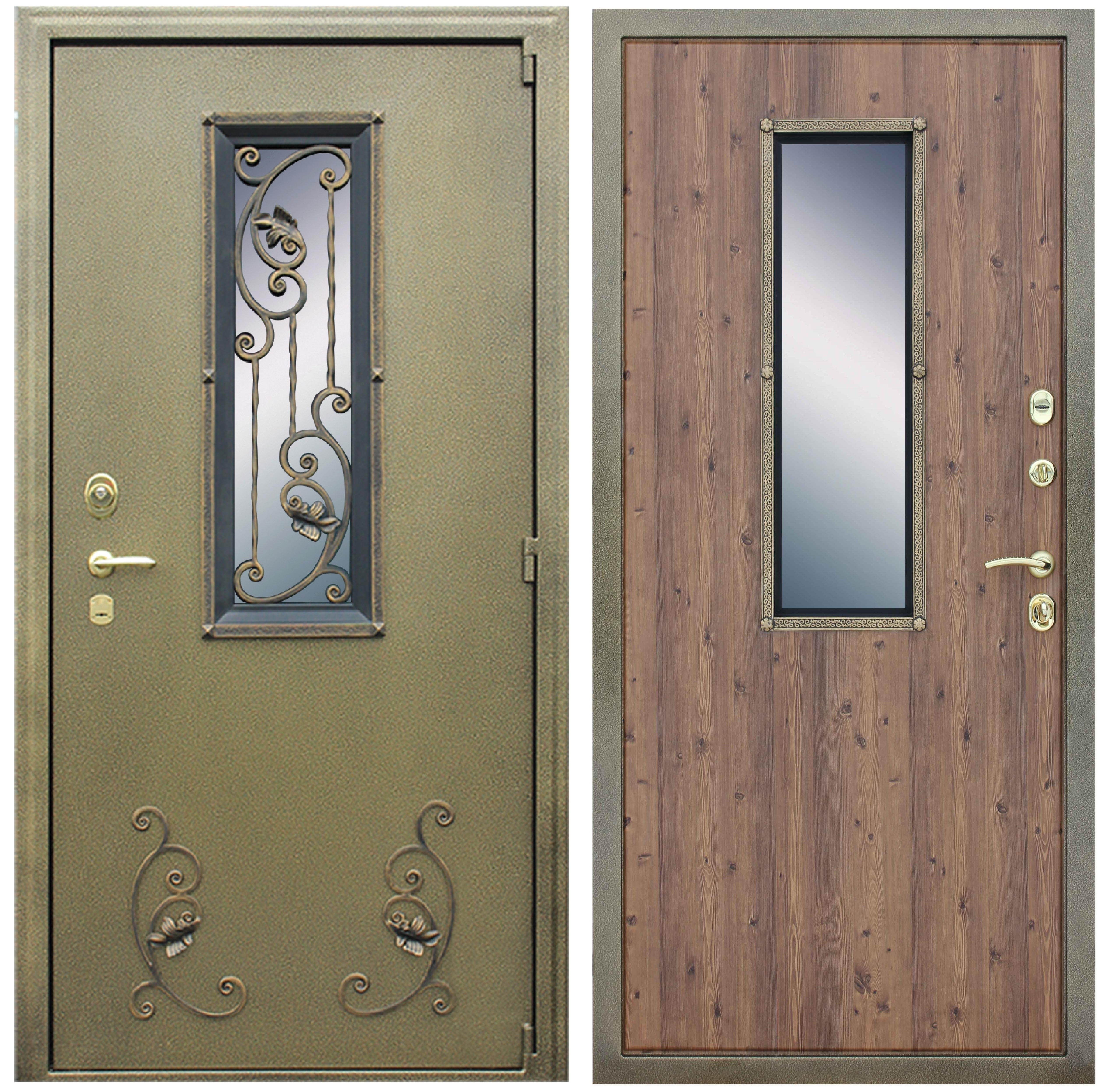металлическая входная дверь с окном