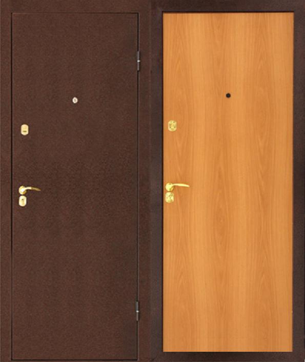 металлическая двупольная антивандальная дверь